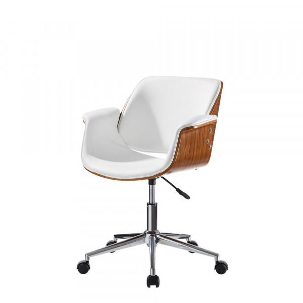 Silla de escritorio de madera blanco moderna para oficina Vitta