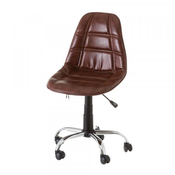 Silla de giratoria de pu marrón moderno para oficina | LOLA home
