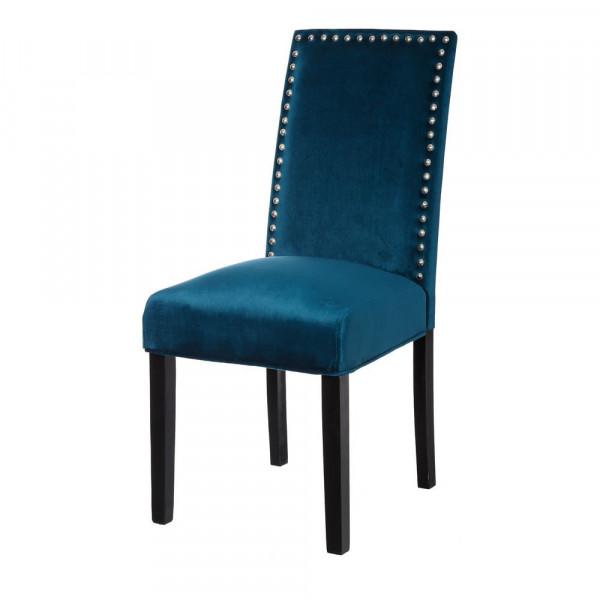 Silla tapizado de madera azul clásico para comedor | LOLA home