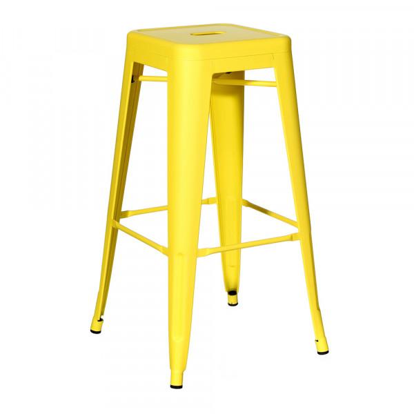 Taburete de diseño industrial amarillo de metal para cocina Factory