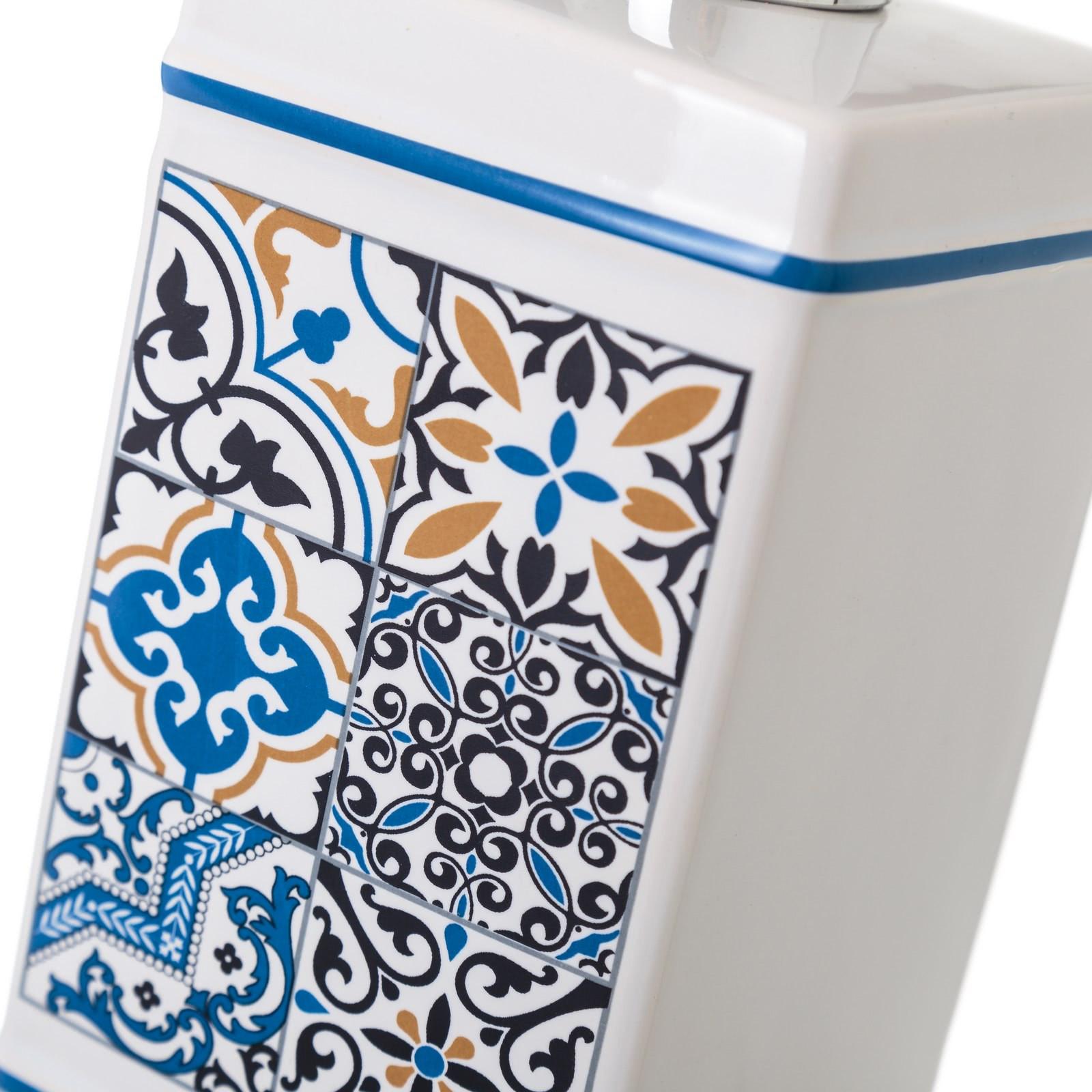 Accesorios de baño árabes azules de cerámica para cuarto ...