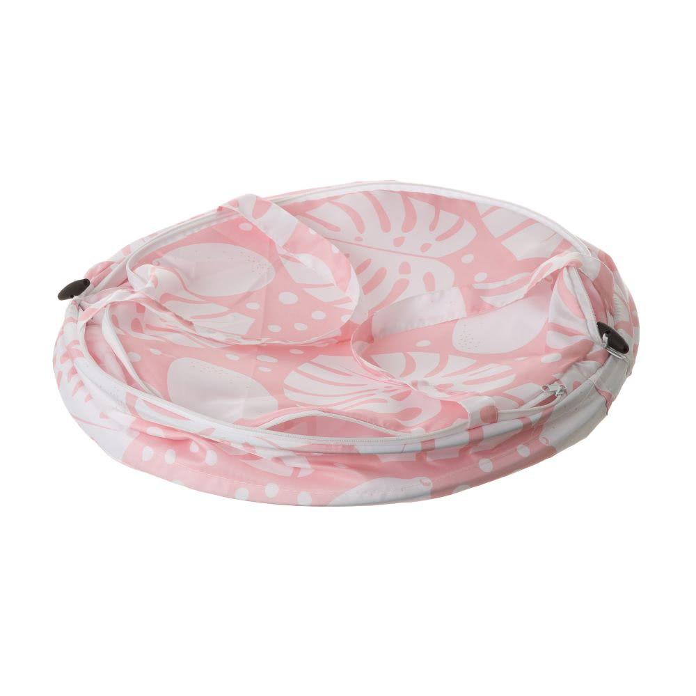 Cesto de ropa rosa de microfibra étnico