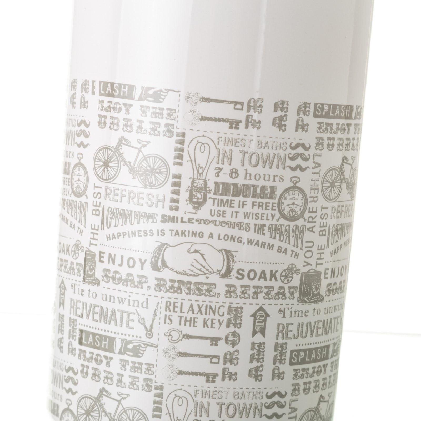 Escobilla de baño vintage gris de cerámica