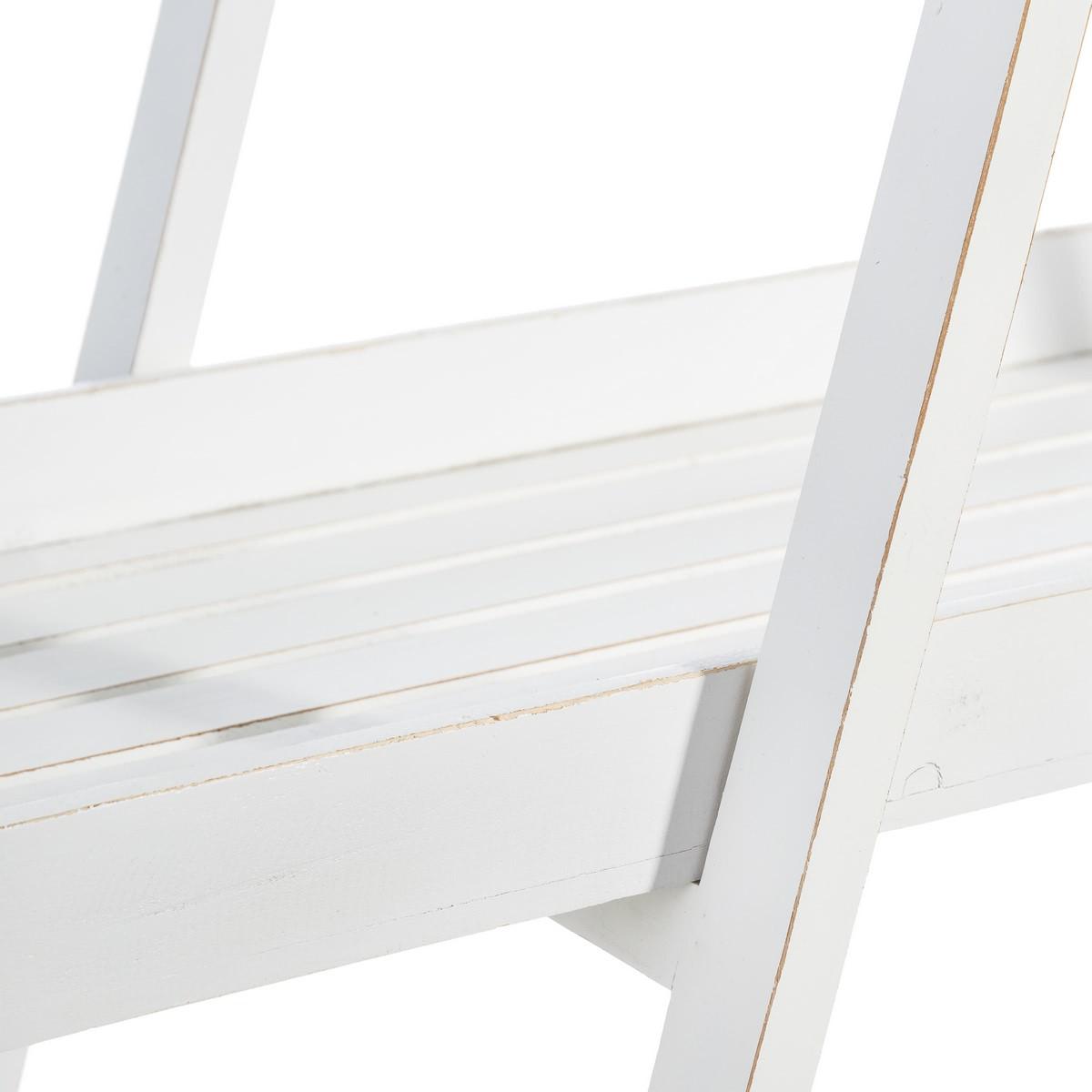 Estantería de 3 baldas minimalista blanca de madera para ...