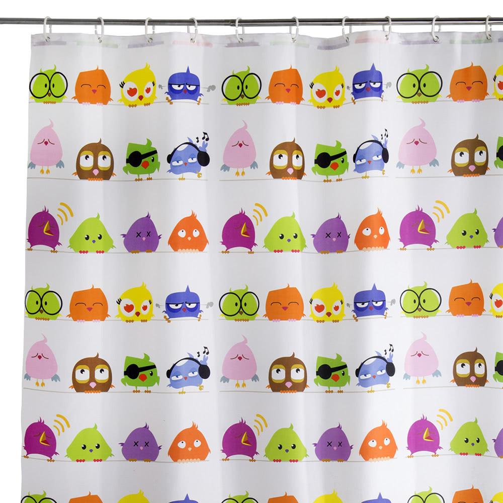 Cortina de ducha infantil multicolor de poliéster para ...