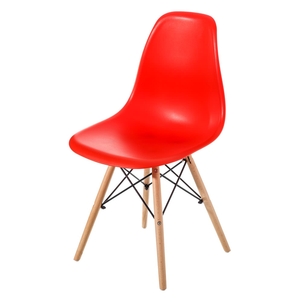 SelecciÓn Madera: Silla De Cocina Moderno Rojo De Madera Para Salón